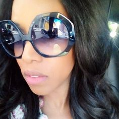 0cdc3dc2627a June Ambrose Wears Colour Riche Lip Balm in Pink Satin Sunglasses Outlet
