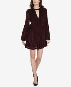 William Rast Dolley Velvet Choker Dress - Red XXL