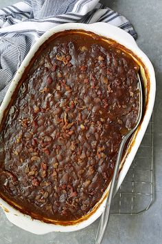 Kicked-Up Canned Baked Beans is an easy and delicious way to make ordinary canned baked beans taste as though you made them from scratch! #beans #bakedbeans #sidedishes #beansidedishes Canned Baked Beans, Recipe Please, Original Recipe, Casserole Dishes, Gourmet Recipes, Side Dishes, Bbq, Baking, Breakfast