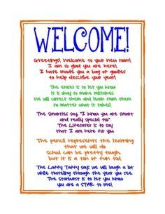 Letter to students before the first day of school beginningend of is a welcome letter that i place on my students desks at open house m4hsunfo