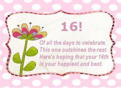 Verjaardag Meiden 16 Jaar.19 Beste Afbeeldingen Van Verjaardagswensen Sweet Sixteen