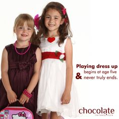 Playing dress up begins at age five and never truly ends. Be with #chocolatefamily www.chocolatefamily.com #kidsfashion
