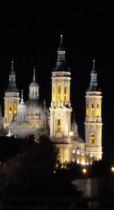 El Pilar, de noche, especialmente bonito. #Zaragoza @manoalvira