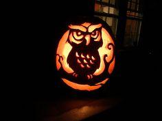 #Owl #Pumpkin Carving - Cute idea for Fall!