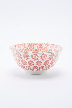 Japanese Large Rice Bowl in Coral