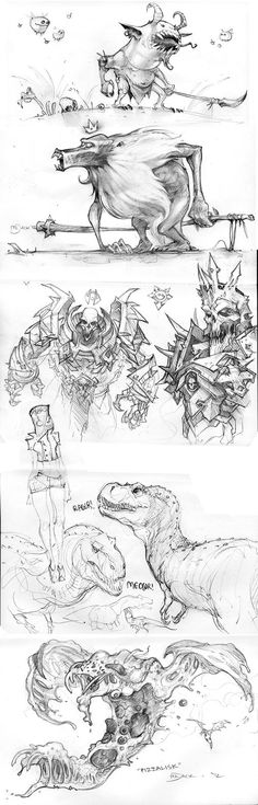 Been a while without anything, so I figured I'd get around to scanning some misc stuff I've done over the last little while, mostly at the Monday night sketch groups we have at work Newer stuff up ...
