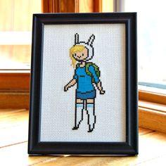 PATTERN  Adventure Time  Fionna  Cross Stitch by WistfulBird, $4.00