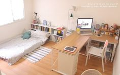 59 Trendy Ideas For Apartment Living Room Studio Beds Small Room Bedroom, Home Bedroom, Bedroom Decor, Bedrooms, Studio Bed, Studio Room, Studio Apartment Decorating, Apartment Ideas, Aesthetic Room Decor