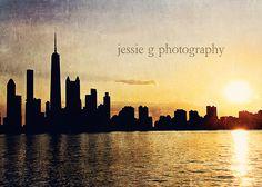Sunset from Lake Michigan.