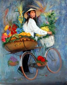 Art community for paintings & drawings only, created by Eren Mckay for those who love art. Art Amour, Images D'art, Art Chinois, Art Asiatique, Bicycle Art, Community Art, Chinese Art, Asian Art, Love Art