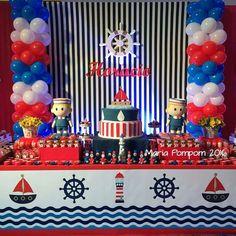 Marinero Star Baby Showers, Boy Baby Shower Themes, Baby Shower Invitations For Boys, Baby Shower Parties, Baby Boy Shower, Sailor Birthday, Pirate Birthday, Baby Birthday, Birthday Party Themes