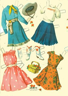 Annette Mouseketeer 1956 * 1500 free paper dolls from artist Arielle Gabriel The International Paper Doll Society for Pinterest paper doll pals *