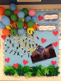 Bulletin board for the week of Respect inspired by the movie UP!