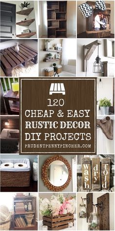 120 Cheap and Easy Rustic Home Decor DIY Ideas rustic house 120 Cheap and Easy Rustic DIY Home Decor Diy Home Decor Rustic, Diy Crafts For Home Decor, Easy Home Decor, Diy Decorations For Home, Farmhouse Decor Cheap, Diy House Decor, Rustic Room, Bedroom Rustic, Rustic Crafts