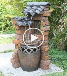 Unique backyard fountains that can not resist Garden Spheres, Diy Garden Fountains, Garden Paths, Water Fountains, Backyard Fences, Backyard Projects, Garden Projects, Garden Landscaping, Ponds Backyard