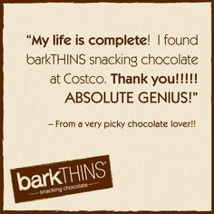First time #barkTHINS customer? Share your thoughts! Email us: info@ripplebrands.com #snackingchocolate #chocolate #nongmo #fairtrade #costco