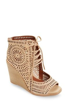 a37a4b60370a Free shipping and returns on Jeffrey Campbell Rayos Perforated Wedge Sandal  (Women) at Nordstrom