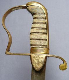 British C.1800 Naval Officer's Sword.  © 2015 antiqueswordsonline.com