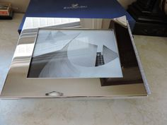 Swarovski Crystal Ambiray Picture Frame Medium 5 x 7 Photo 1096440 Silver Metal with Clear Swarovski Crystals Tabletop Brand New In Box