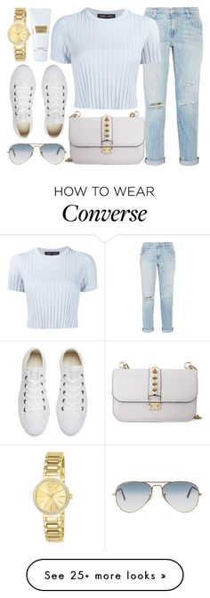 """""""Fresh"""" by jomashop on Polyvore featuring Valentino, Current/Elliott, Proenza Schouler, Converse, Ray-Ban, Carven, Invicta, casual, white and Blue"""
