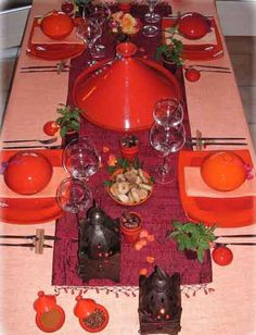 table setting and moroccan style table centerpiece ideas
