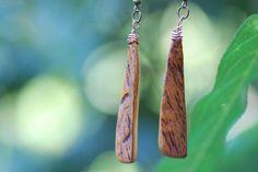 Ohrringe aus Aprikosenholz