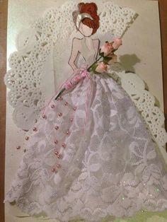 Bride mixed media doll