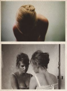 Lara Stone by Nan Goldin for Vogue Paris, June/July 2012