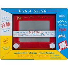 Do you remember Etch A Sketch as a kid?  The same inviting gray drawing screen as the original model. This Classic Etch A Sketch will provide hours of pencil-free drawing.