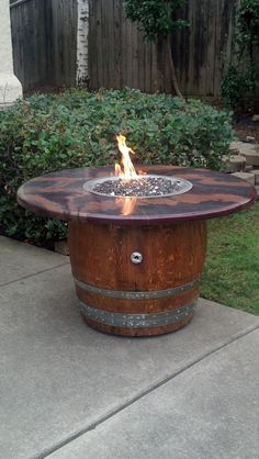 Wine Barrel Gas Fire Pit And Patio Table Wine Barrel Fire Pit Barrel Fire Pit Fire Pit Table