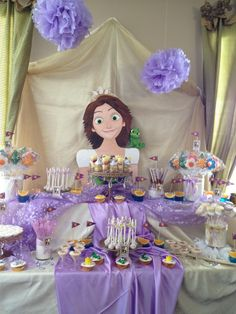Tangled party Rapunzel party Sweet tangled table!