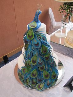 Peacock Themed Wedding Cakes   Peacock Themed Wedding Structure - by cakesncuppies @ CakesDecor.com ...