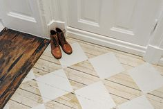 Checker floor #white #brown