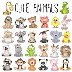 set-of-cute-animals-vector-id507108822 1,024×1,024 píxeles