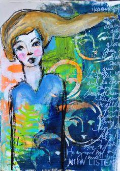 Dina wakley 10 sm  - dinastamps - ponderings - © Dina Wakley (I love mixed media)