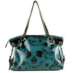 rock n roll bag punk rock bag skull bag skull purse rockabilly purse goth bag goth bags goth purse! Vegan Handbags, Blue Handbags, Purses And Handbags, Backpack Purse, Clutch Purse, Purse Wallet, Design Bleu, Skull Purse, Skull Fashion