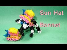 Rainbow Loom Charms: SUN HAT / BONNET: How To Design / Tutorial (DIY Mommy)
