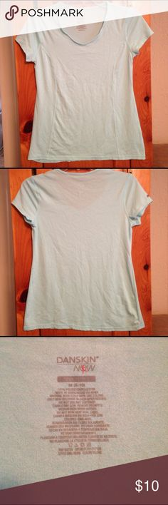 "DANSKIN NOW LIGHT BLUE ATHLETIC TOP Women's M Excellent condition SUPER CUTE light blue athletic top by DANSKIN NOW. Size women's M. Material: 100% polyester. Chest: 17"" across lying flat pit to pit. Length: 22.5"". NO FLAWS! COLOR MUCH PRETTIER THAN PICS! Danskin Now Tops Muscle Tees"