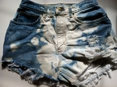 Tye Dye Bleached HIGH WAISTED shorts SIZE 8. $18.00, via Etsy.
