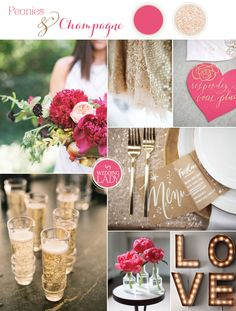 Peony+Pink+and+Champagne+Summer+Wedding+Palette