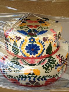 Mexican embroidery cake.  Made by Society Bakery in Dallas.
