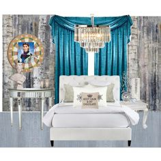 A home decor collage from March 2014 featuring white headboard, folding table and mirrored furniture. Browse and shop related looks.