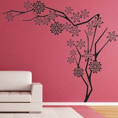 """Style and Apply Flower Tree III Wall Decal Size: 24"""" H x 23"""" W, Color: Royal Blue"""