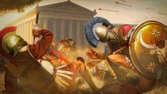 Antigone – battle of brothers Greek History, Ancient History, Greco Persian Wars, Spartan Warrior, Greek Warrior, Roman Soldiers, Medieval Fantasy, Historical Pictures, Ancient Greece