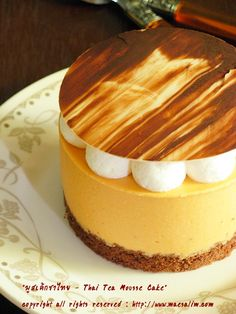 Thai Tea Mousse Cake! I want to  make this right now