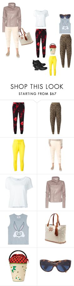 """""""Track Pants..##"""" by yagna ❤ liked on Polyvore featuring Philipp Plein, Alexander Wang, Dsquared2, Vince, Frame, Rick Owens, Paul & Joe Sister, Charlotte Olympia, Oliver Peoples and vintage"""
