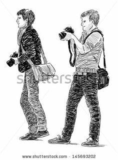 photographers - stock photo
