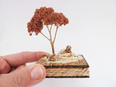 Lion and Tree Miniature Sculpture   African от CiliArtAndDesign