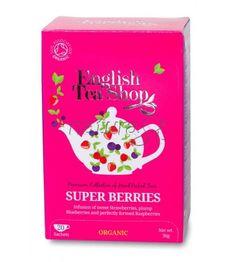 """Infuso di ibisco e rooibos """"Super Berries"""" con menta piperita English Tea Shop"""