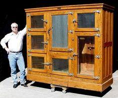 McCRAY GROCERS GOLDEN OAK 7 DOOR ICE BOX